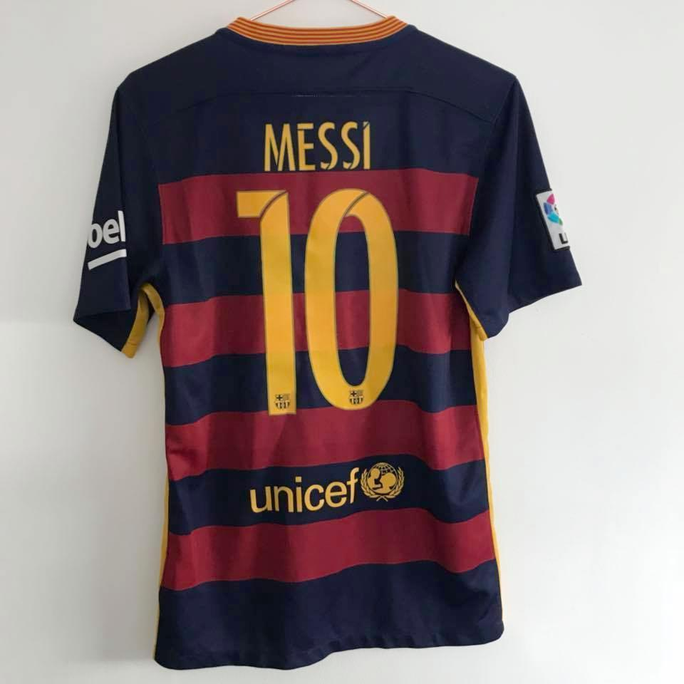 2015-16 Barcelona Home Shirt S Messi 10 (Excellent) - Football Shirt Collective