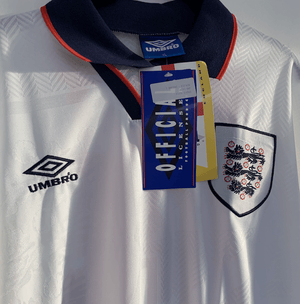 Football Shirt Collective Copy of 1993-95 England home shirt XL Wright 14 (BNWT)