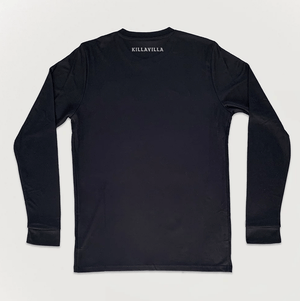 Killa Villa NWA football shirt black long sleeve