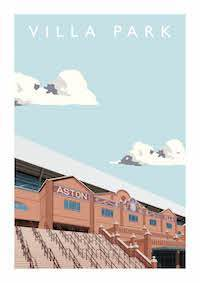 Poster of Aston Villa ground Villa Park - Football Shirt Collective