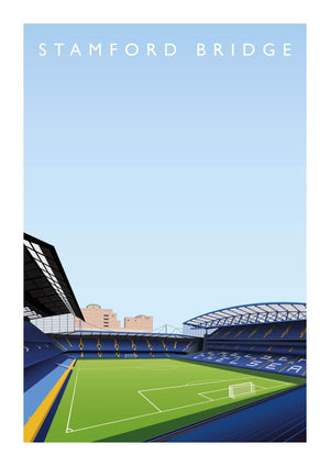 Matthew J I Wood Poster of Chelsea ground Stamford Bridge