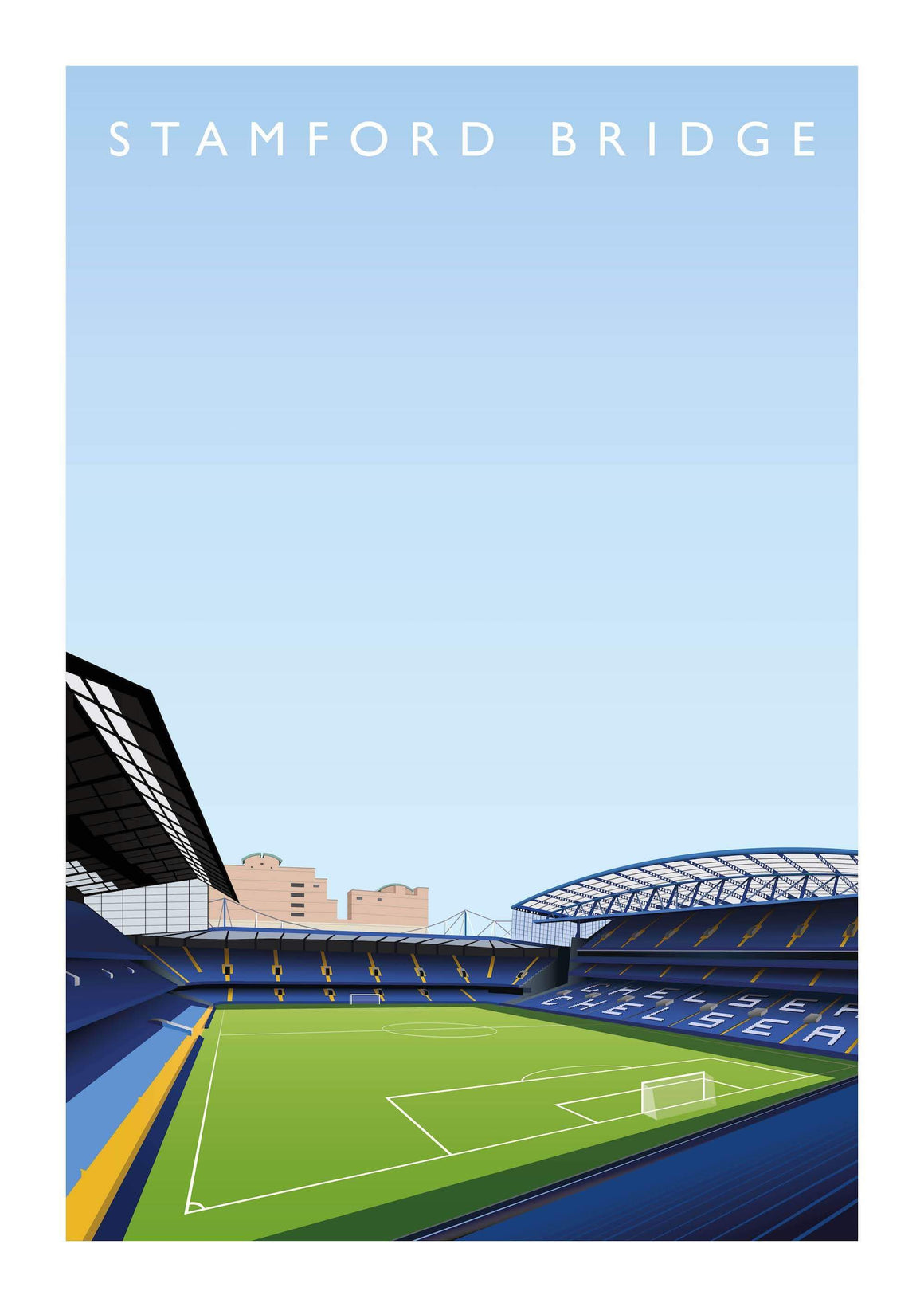 Poster of Chelsea ground Stamford Bridge - Football Shirt Collective