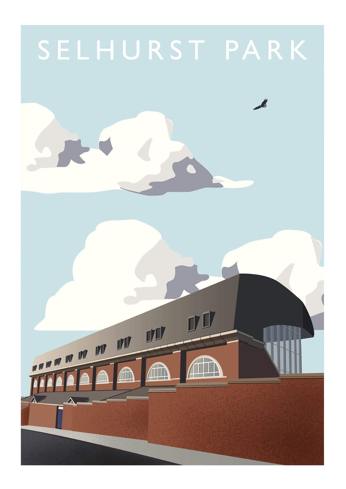 Matthew J I Wood Poster of Crystal Palace ground Selhurst Park
