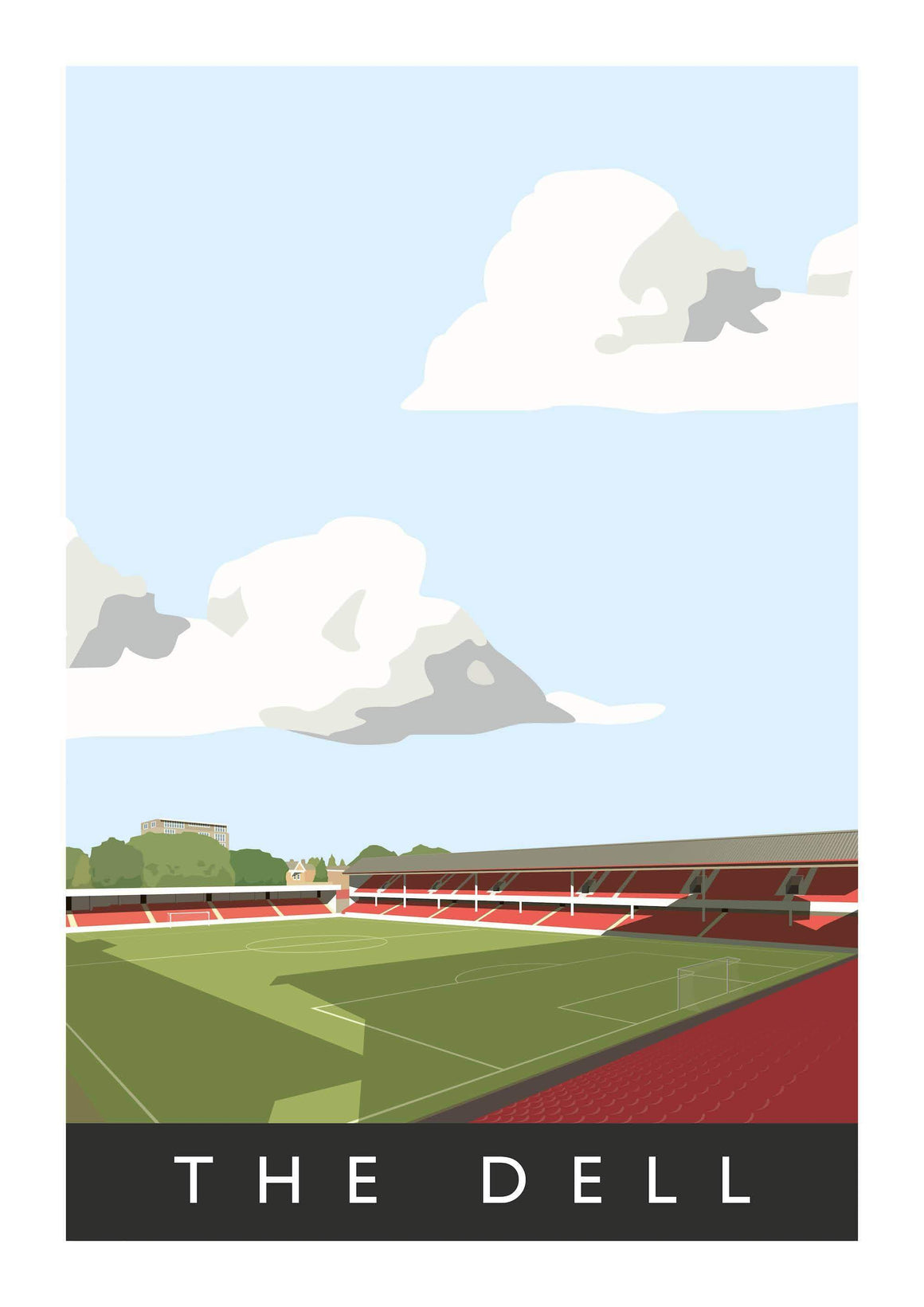 Poster of Southampton ground The Dell - Football Shirt Collective