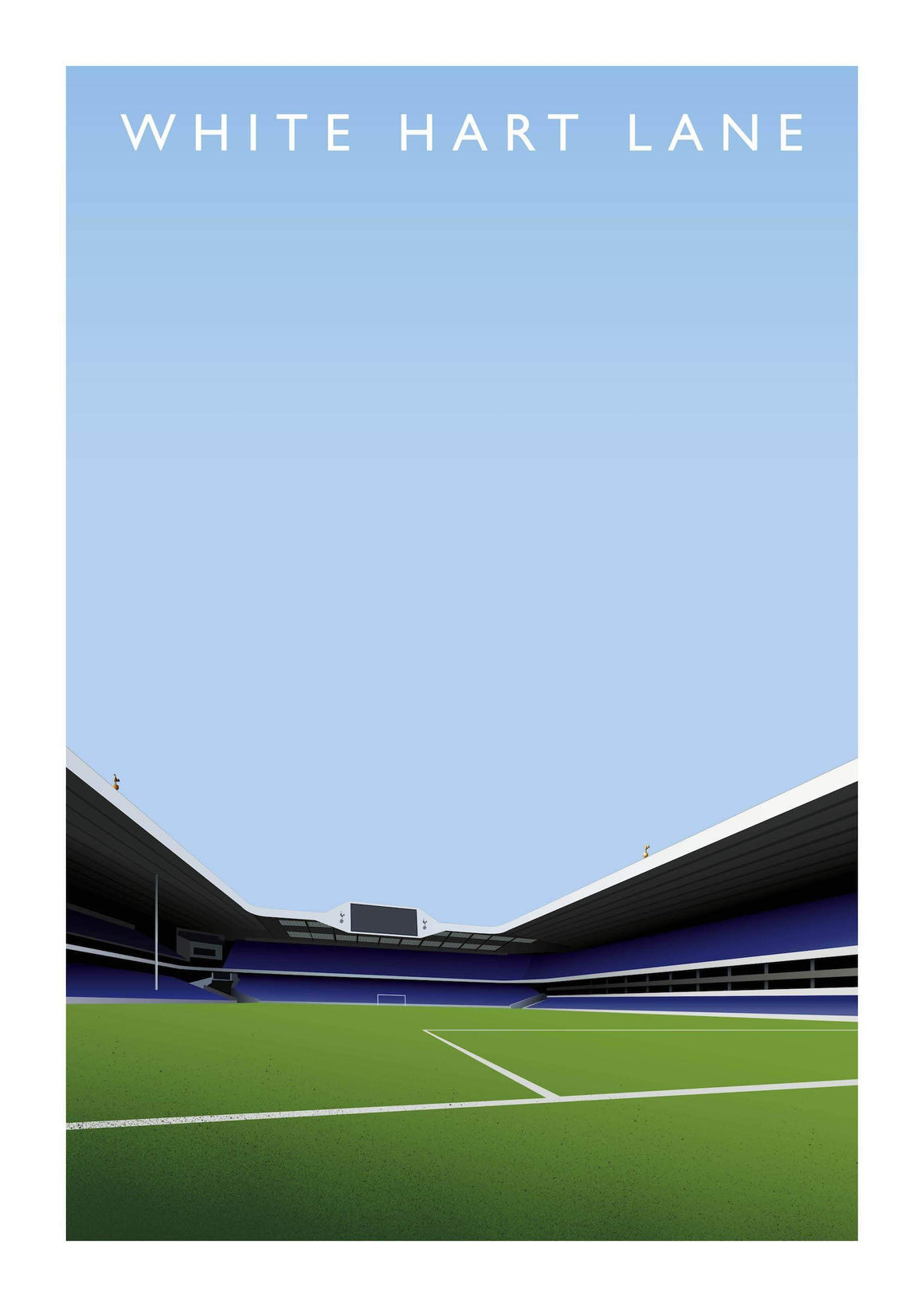 Poster of Tottenham Hotspur ground White Hart Lane - Football Shirt Collective