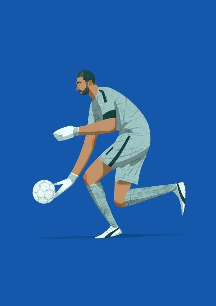 Matthew Shipley Gianluigi Buffon Italy Illustration