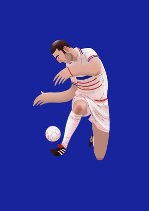 Zinedine Zidane France Illustration - Football Shirt Collective