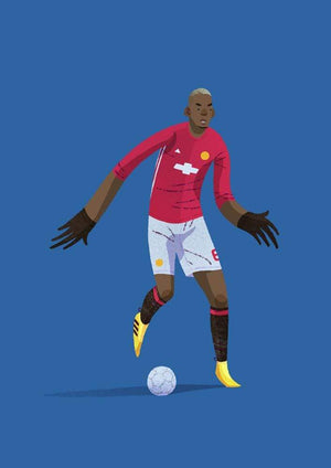 Paul Pogba Manchester United Illustration - Football Shirt Collective