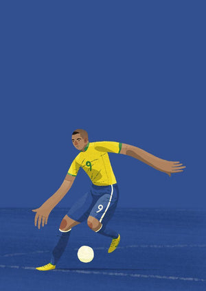 Ronaldo Brazil Illustration - Football Shirt Collective