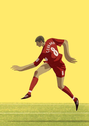 Steven Gerrard Liverpool Illustration - Football Shirt Collective