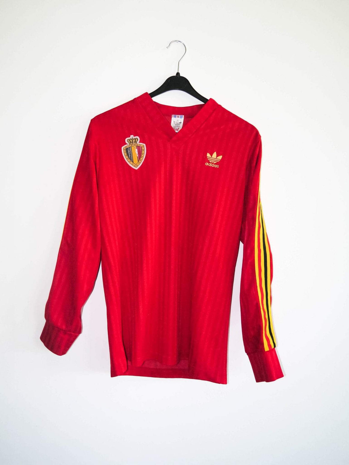 RB Jerseys 1990 Belgium L/S home shirt