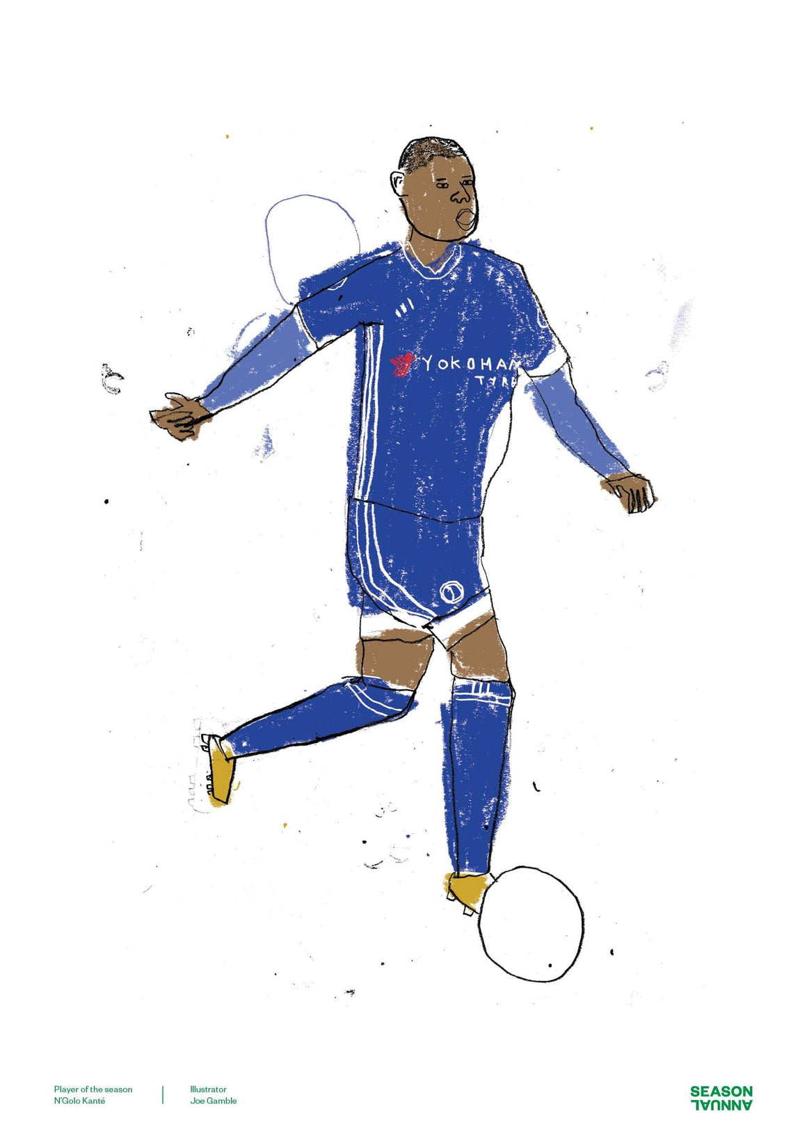 Season Annual A3 poster of Chelsea player of the season N'Golo Kante