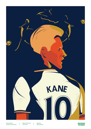 Season Annual A3 poster of Harry Kane for Tottenham Hotspur