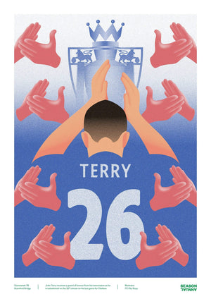 Season Annual A3 poster of John Terry getting a guard of honour for Chelsea