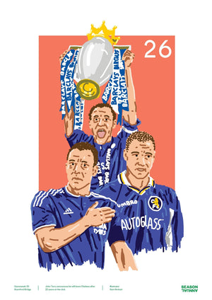 Season Annual A3 poster of John Terry of Chelsea