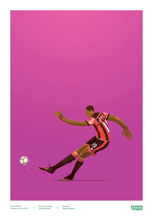 Season Annual A3 poster of Junior Stanislas for Bournemouth