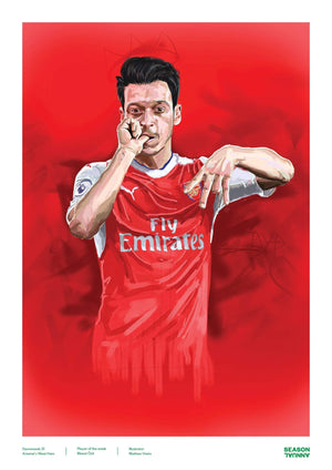 Season Annual A3 poster of Mesut Ozil for Arsenal