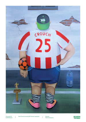 Season Annual A3 poster of Stoke fan in Peter Crouch shirt