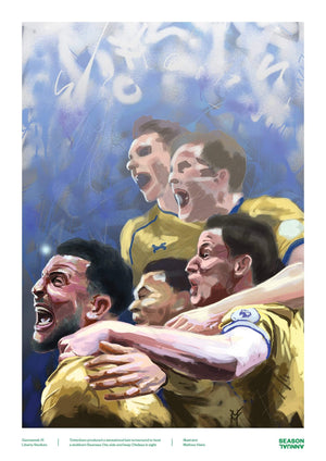 Season Annual A3 poster of Tottenham Hotspur squad as they secure a late win against Swansea