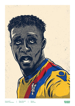 Season Annual A3 poster of Wilfred Zaha for Crystal Palace