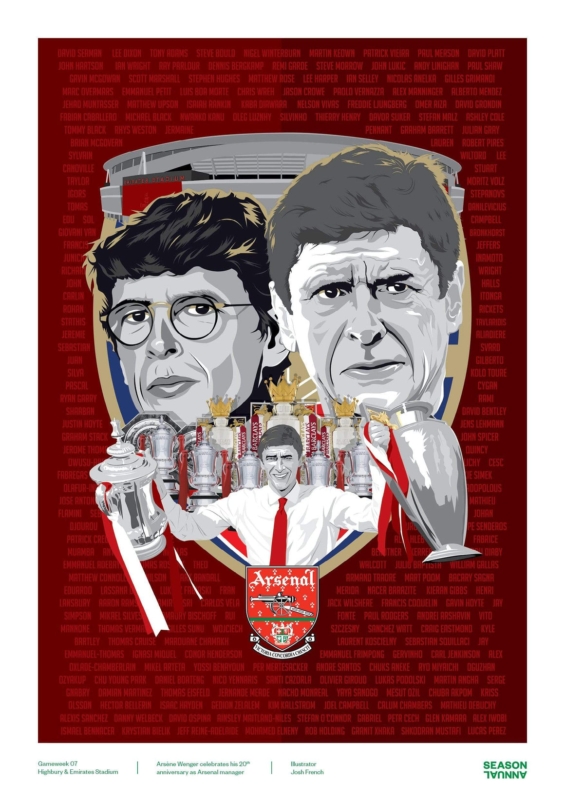 Season Annual Arsene Wenger Arsenal poster