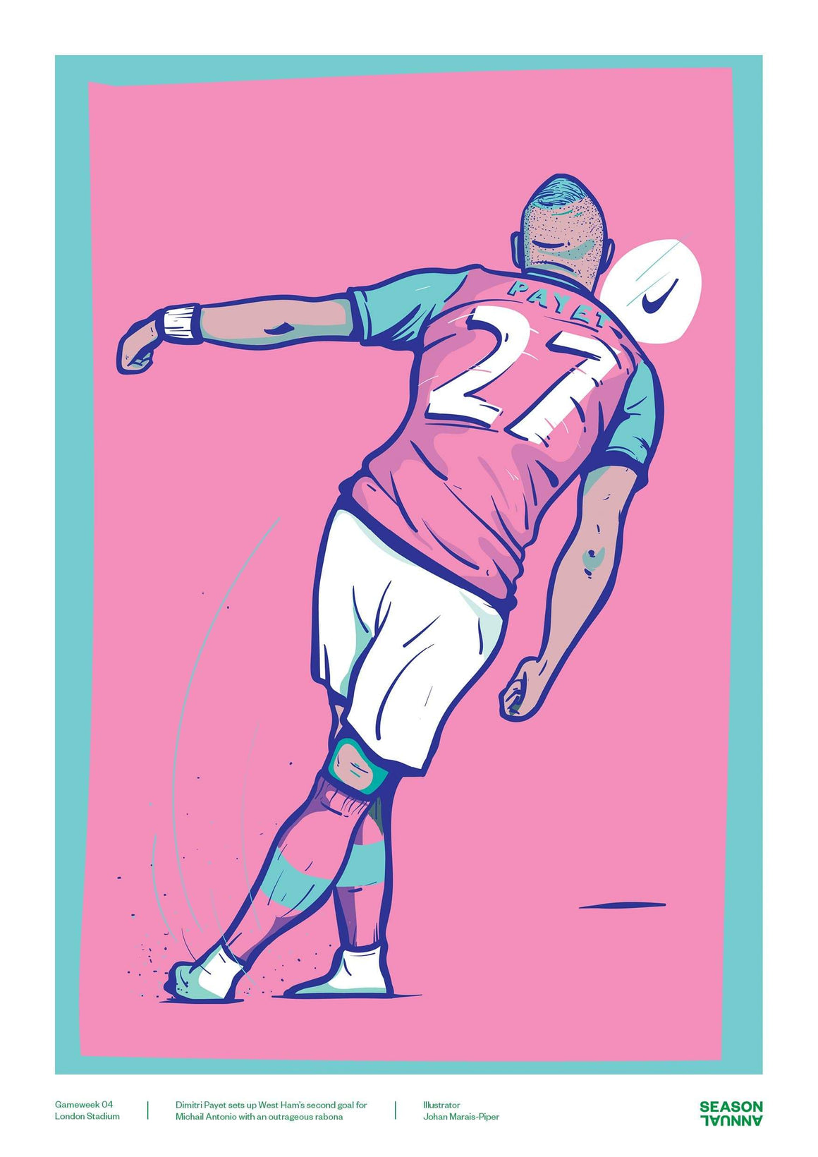 Season Annual Dimitri Payet West Ham United Poster: MOTW Gameweek 04