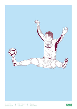 Tom Heaton Burnley poster - Football Shirt Collective