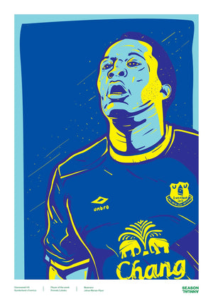 Romelu Lukaku Everton Poster: POTW Gameweek 04 - Football Shirt Collective