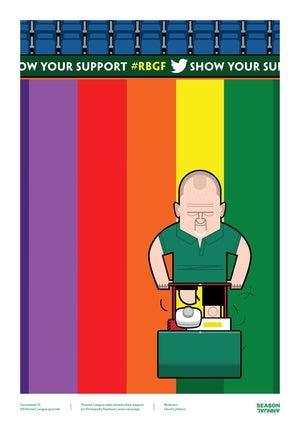 Stonewall rainbow laces poster - Football Shirt Collective