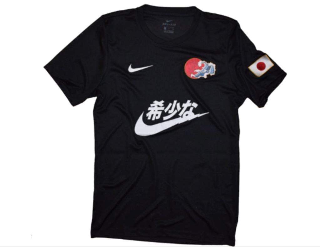 Swoosh Kanji Jersey Black Concept Jersey - Football Shirt Collective