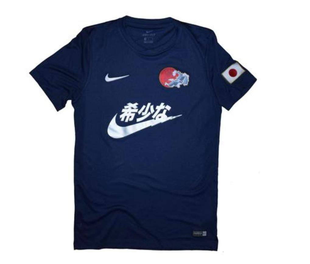 Swoosh Kanji Jersey Blue Concept Jersey - Football Shirt Collective