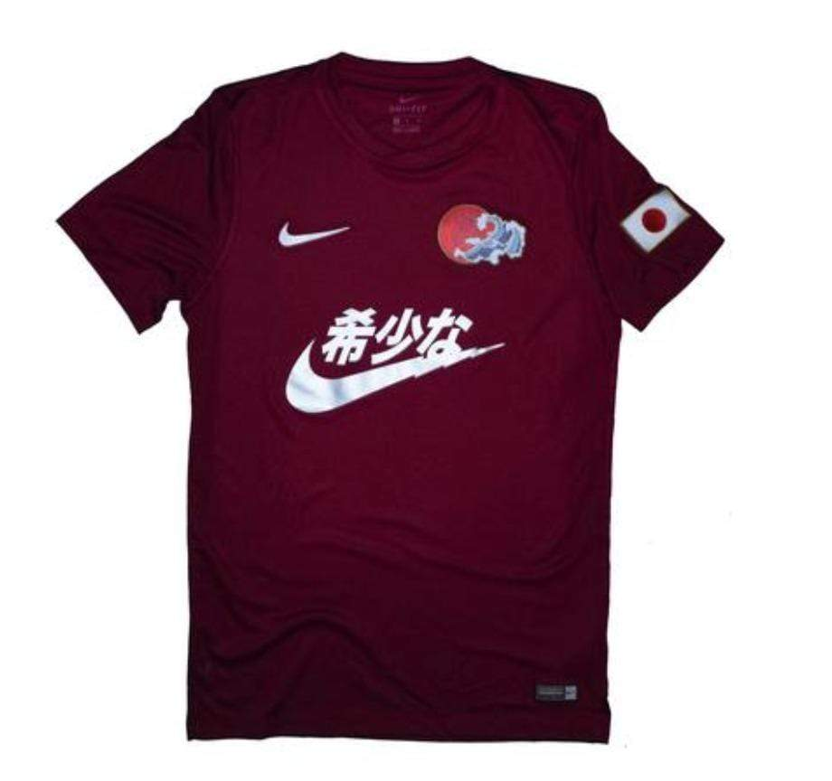 Swoosh Kanji Jersey Red Concept Jersey - Football Shirt Collective