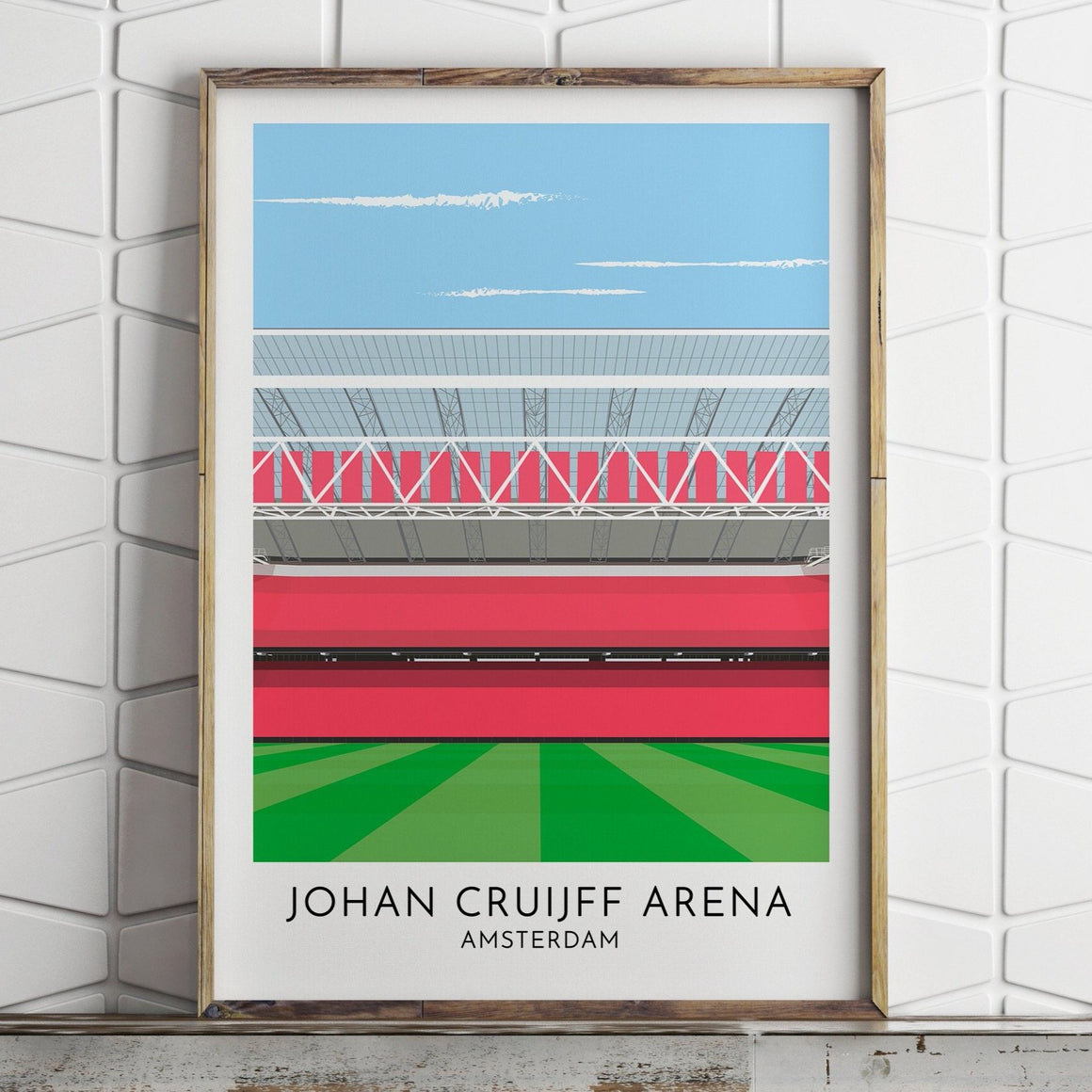 Turf Football Art Ajax - Johan Cruiff Arena - Contemporary Stadium Print