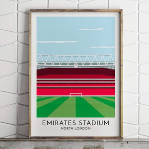 Turf Football Art Arsenal - Emirates Stadium - Contemporary Stadium Print