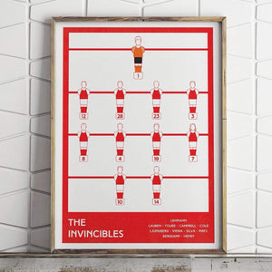 Arsenal fc, Invincible Team, Football Poster, Soccer Print, Football Gift - Football Shirt Collective