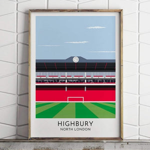Turf Football Art Arsenal - Highbury - Contemporary Stadium Print