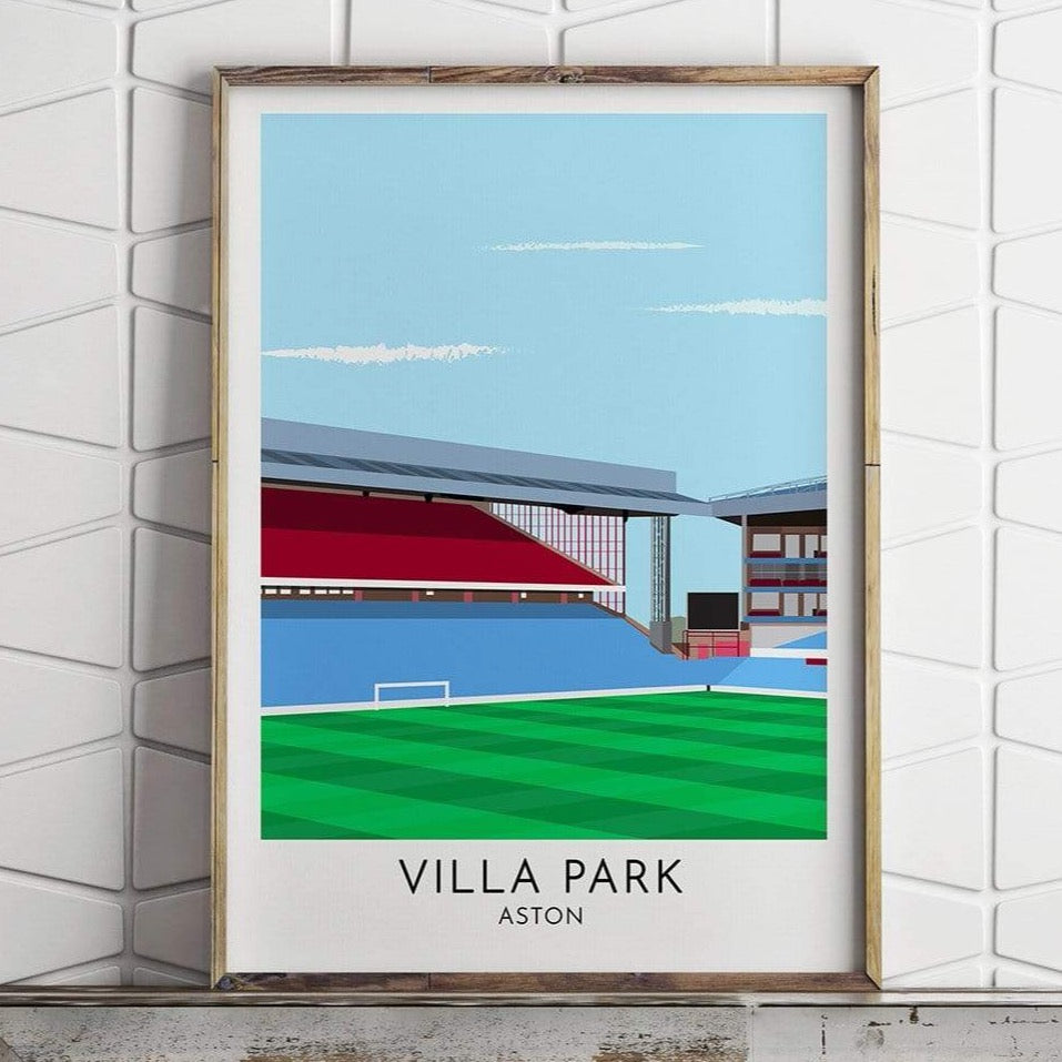 Aston Villa - Villa Park - Contemporary Stadium Print - Football Shirt Collective