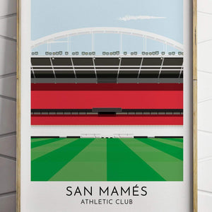 Turf Football Art Athletic Bilbao - San Mames - Contemporary Stadium Print