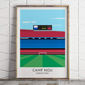 Barcelona - Camp Nou - Contemporary Stadium Print