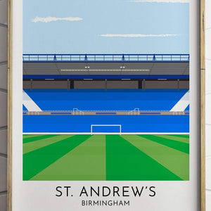 Birmingham City - St. Andrew's - Contemporary Stadium Print - Football Shirt Collective