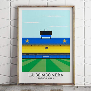 Boca Juniors - La Bombonera - Contemporary Stadium Print - Football Shirt Collective