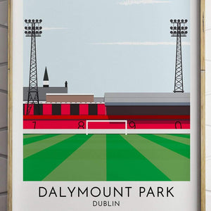 Turf Football Art Bohemian - Dalymount Park - Contemporary Stadium Print