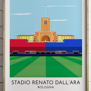 Turf Football Art Bologna - Stadio Renato Dall'Ara - Contemporary Stadium Print