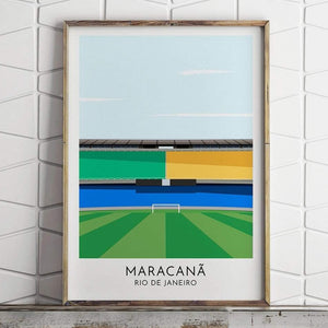 Brazil - Maracana - Contemporary Stadium Print - Football Shirt Collective