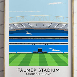 Brighton & Hove Albion - Falmer Stadium - Contemporary Stadium Print - Football Shirt Collective