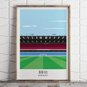 Burnley - Stadium - Contemporary Stadium Print - Football Shirt Collective