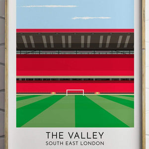 Charlton - The Valley - Contemporary Stadium Print - Football Shirt Collective