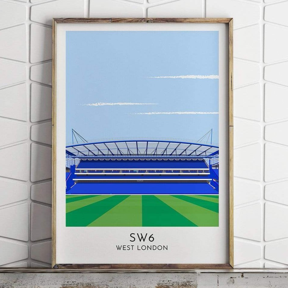 Chelsea - Stadium - Contemporary Stadium Print - Football Shirt Collective