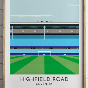 Coventry - Highfield - Contemporary Stadium Print - Football Shirt Collective