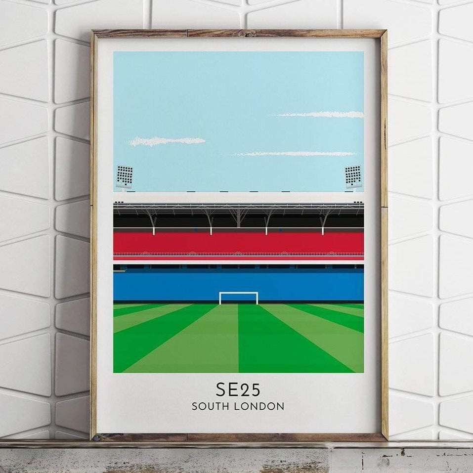 Crystal Palace - Stadium - Contemporary Stadium Print - Football Shirt Collective